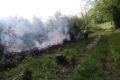 Požar ob železnici, km 617.5