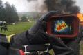 Gašenje požara na osebnem vozilu